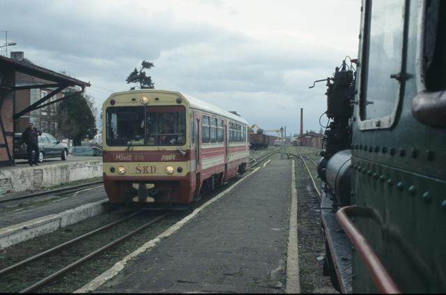 Px48-1919, and a railcar, Smigiel, March 2008